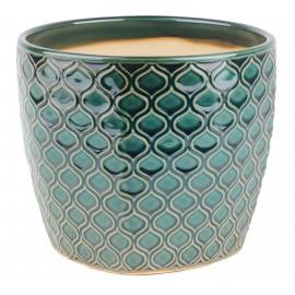 Osłonka ceramiczna Ø 18 cm -turkusowa łuska 45.005.20