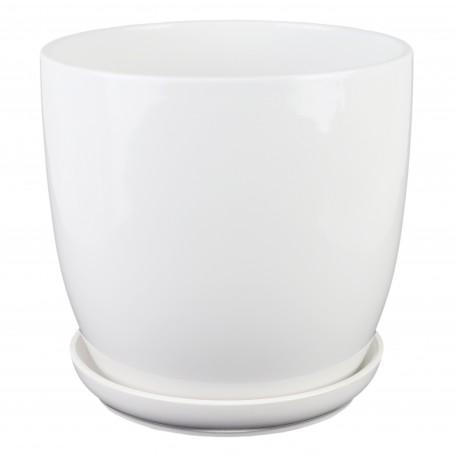 Osłonka klasyczna biała z podstawką 02.449.17 Ø 15 cm