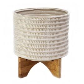 Osłonka Ø 14 cm z drewnianym stojakiem J40-02