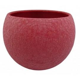 Osłonka bordowa Ø 13 cm ceramiczna mozaikowa kula LIZARD/12.5-17