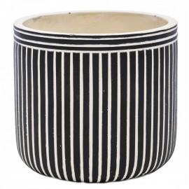 Osłonka Ø 12 cm PASY biel czerń 128757