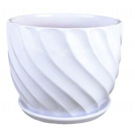 Doniczka z podstawką Ø 14 cm biała 43.028.14