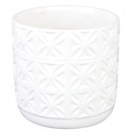 Osłonka cylindryczna Ø 12 cm żłobiona -biała 05.153.13