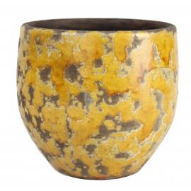 Osłonka Ø 14 cm RUSTIC żółto-brązowa