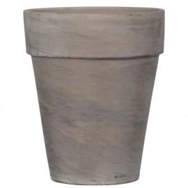 Doniczka Ø 16 cm gliniana wysoka BAZALT 20-17