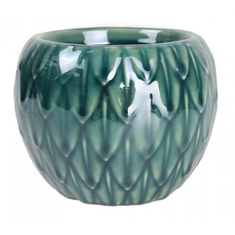 Osłonka ceramiczna Ø 9 cm morska zieleń