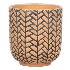 Osłonka ceramiczna Ø 9 cm- pomarańczowa mozaika