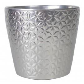 Osłonka Ø 15 cm ORNAMENT srebrna 480-14-204 /12-14.5