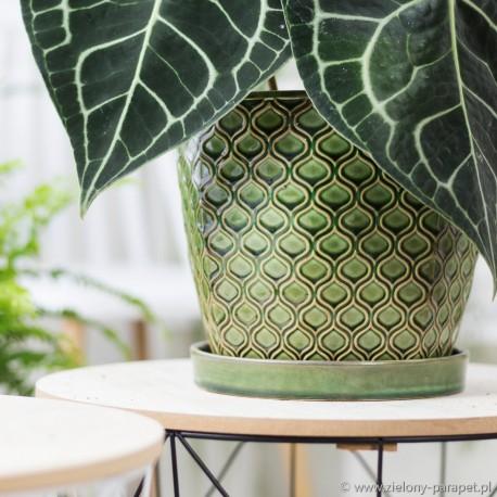 Osłonka ceramiczna -turkusowa łuska 45.005.12 Ø 12 cm