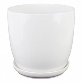 Doniczka z podstawką Ø 18 cm CLASSIC biała 15.001.17