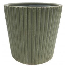 Osłonka Ø 8 cm PASY zielona F03-03Z