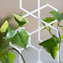 Podpora do roślin pnących, PLASTER MIODU rozmiar M -biała