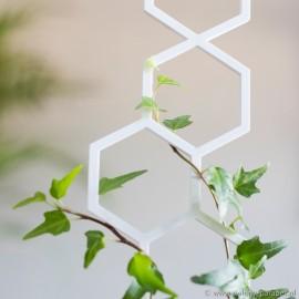Podpora do roślin pnących, PLASTER MIODU rozmiar S -biała