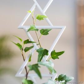 Podpora do roślin pnących, TRÓJKĄTY rozmiar S -biała