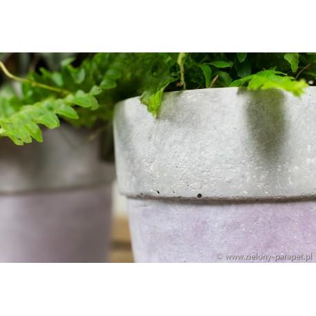 Osłonka Ø 10 cm fioletowa SIMPLE beton