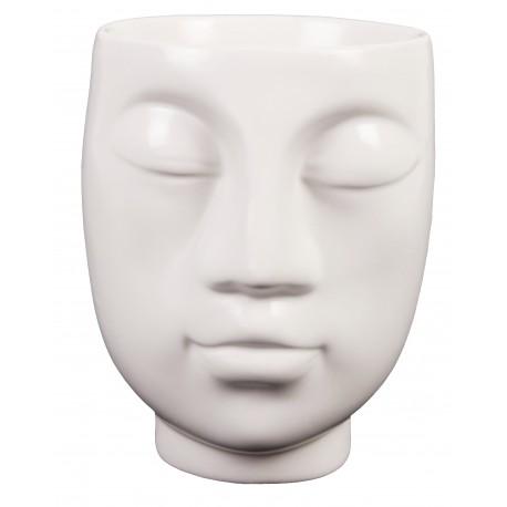 Osłonka GŁOWA Ø 9 cm biała ceramiczna
