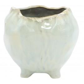 Osłonka ceramiczna Ø 11 cm NATURAL na nóżkach 201501
