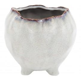 Osłonka ceramiczna Ø 11 cm NATURAL na nóżkach 201521