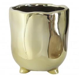 Osłonka lustrzana Ø 11 cm NA NÓŻKACH złota