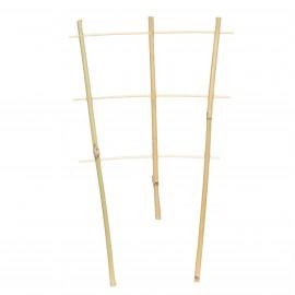 Drabinka bambusowa prosta, podpora do roślin pnących, zestaw 3 sztuk