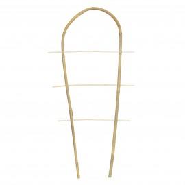 Drabinka bambusowa wygięta, podpora do roślin pnących, zestaw 3 sztuk