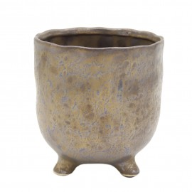 Osłonka ceramiczna Ø 14 cm NA NÓŻKACH bronze 218854