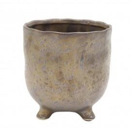 Osłonka ceramiczna Ø 8 cm BRĄZ na nóżkach 218851