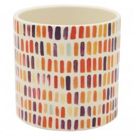 Osłonka ceramiczna Ø 10 cm CONFETTI orange 00101019944