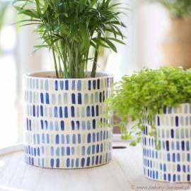 Osłonka ceramiczna Ø 13 cm Confetti blue 0010109928