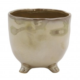 Osłonka ceramiczna Ø 8 cm PEARL BROWN na nóżkach 218896