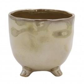 Osłonka ceramiczna Ø 13 cm PEARL BROWN na nóżkach 218898