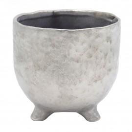 Osłonka ceramiczna Ø 8 cm SILVER na nóżkach