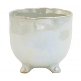 Osłonka ceramiczna Ø 11 cm PEARL MINT na nóżkach 218927
