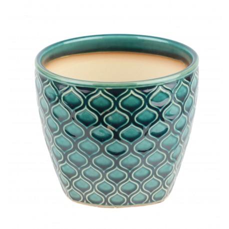 Osłonka ceramiczna -turkusowa Ø 12 cm