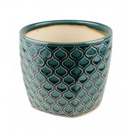 Osłonka ceramiczna -turkusowa łuska 45.005.14 Ø 14 cm