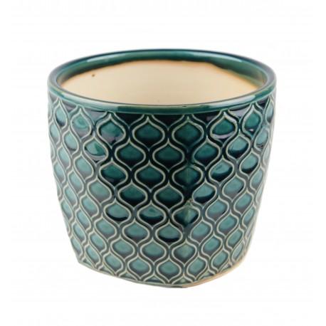 Osłonka ceramiczna -turkusowa łuska Ø 14 cm