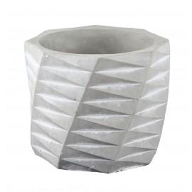 Osłonka cylindryczna żłobiona -szara Ø 12 cm