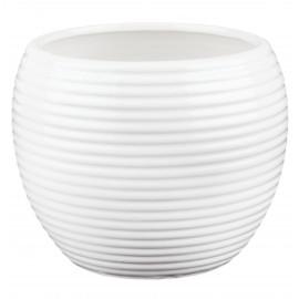 Osłonka kulista prążkowana -biała 02.503.19 -15 cm