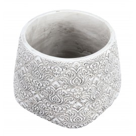 Osłonka biały ornament Ø 11 cm